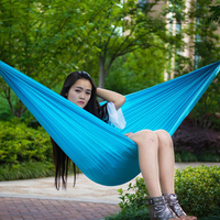 FF 2 Person Hiking Hammock Garden Swing Portable Parachute Outdoor Furniture Gammak Base Sleeping Bed Outdoor