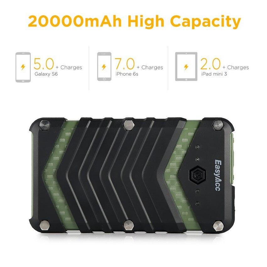 EasyAcc 20000mAh Power Bank bärbar laddare 2USB 18650 Externt - Reservdelar och tillbehör för mobiltelefoner - Foto 6