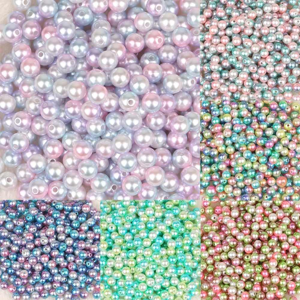 50-500pcs  4/6/8/10mm Round Imitation ABS Pearl Beads For Craft Scrapbook Decoration DIY Sewing Craft Supplies