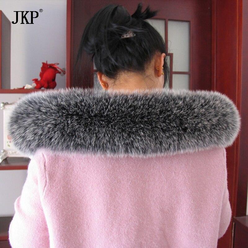 100% natürliche echte Fuchspelzkragen Frauen Schal Wintermantel Neck - Bekleidungszubehör - Foto 3
