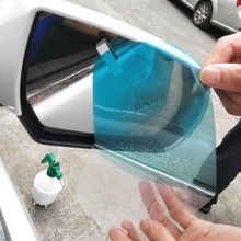 Nowy 1 para Auto samochód anty mgła wodna Film Anti Fog powłoka przeciwdeszczowa hydrofobowa lusterko wsteczne folia ochronna 4 rozmiary tanie tanio PET+ Nano Coating 80mm x 80mm 95mm x 95mm 85mm x 145mm 95mm x 135mm