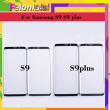 10Pcs/lot For Samsung Galaxy S9 G960 G960F SM-G960F S9 Plus G965F SM-G965F Touch Screen Front Glass Panel Outer Glass Lens