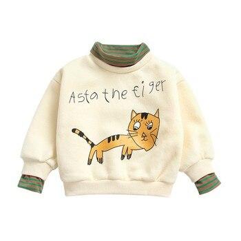 Baby Girl Clothes Cartoon Pattern boy Sweatshirts Autumn Long Sleeve Cotton Sweatshirt Casual Toddler Outerwear Hoodies & Sweatshirts