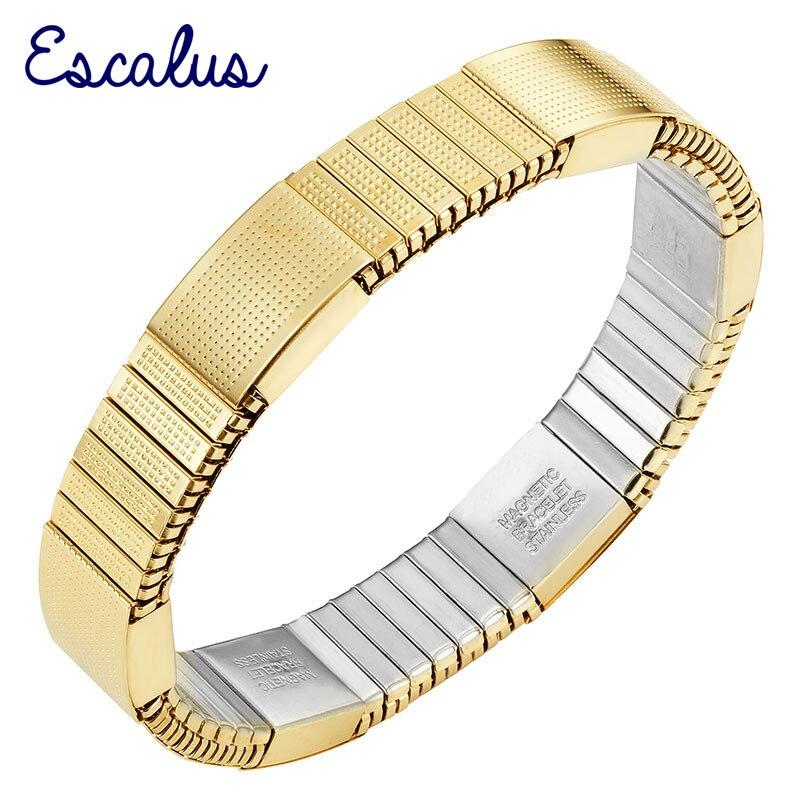 Escalus золото Цвет Ионные Покрытие эластичный Для женщин магнитный браслет имитация бижутерия браслет и Браслеты браслет Шарм