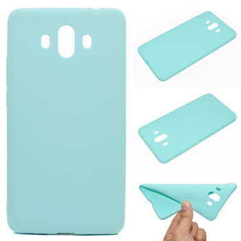 Bright Candy colors Soft Silicone Phone cases for Huawei Mate 10 Simple lifestyle