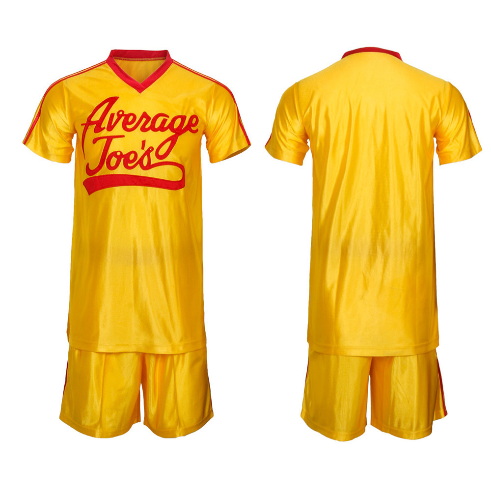 US $30 84 32% OFF|Crazy Dodgeball Average Joe's Adult Yellow Jersey Costume  Set A True Underdog Story Dodgeball Cosplay Costume Halloween Outfit-in