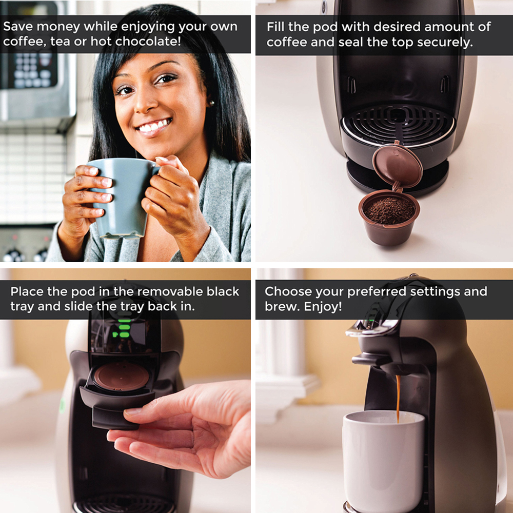 Coffee Capsule For All Nescafe Dolce Gusto Models Reusable Refillable Cafe Filters Baskets Pod Soft Taste Sweet
