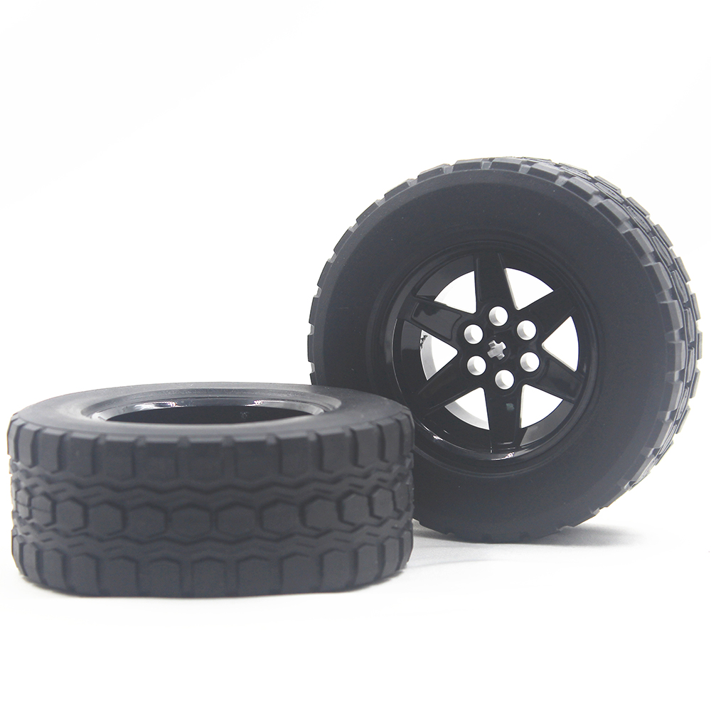 MOC Technic Parts 1pcs TYRE TYRE DIA 94,3 X 38 & RIM DIA 56 X 34 Compatible With Lego For Kids Boys Toy