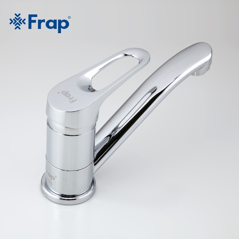 Frap  Faucet Kitchen Chrome Finish Deck Mounted Single Handle Hot Cold Water Toilet Furnitures F4513-2