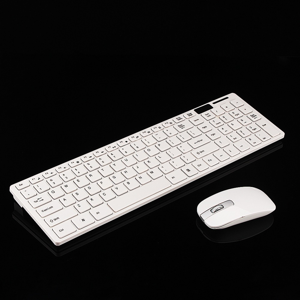 Slim 2.4GHz Wireless Keyboard and Mouse Combo 102 Keys Wireless Keyboard Mouse for Mac Pc Windows 7/8XP/Vista/2000/98/95/NT/ME