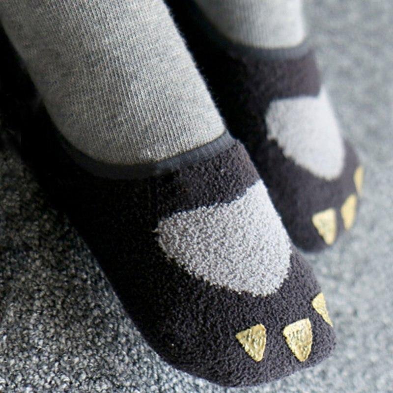 2019 Baby Girl Coral Velvet Non Slip Socks Slipper Shoes BootsA