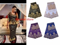 2017 African Lace Fabric High Quality Nigerian Cotton Guipure Wax Fabric Embroidered Tissu Africain Guipure Wax