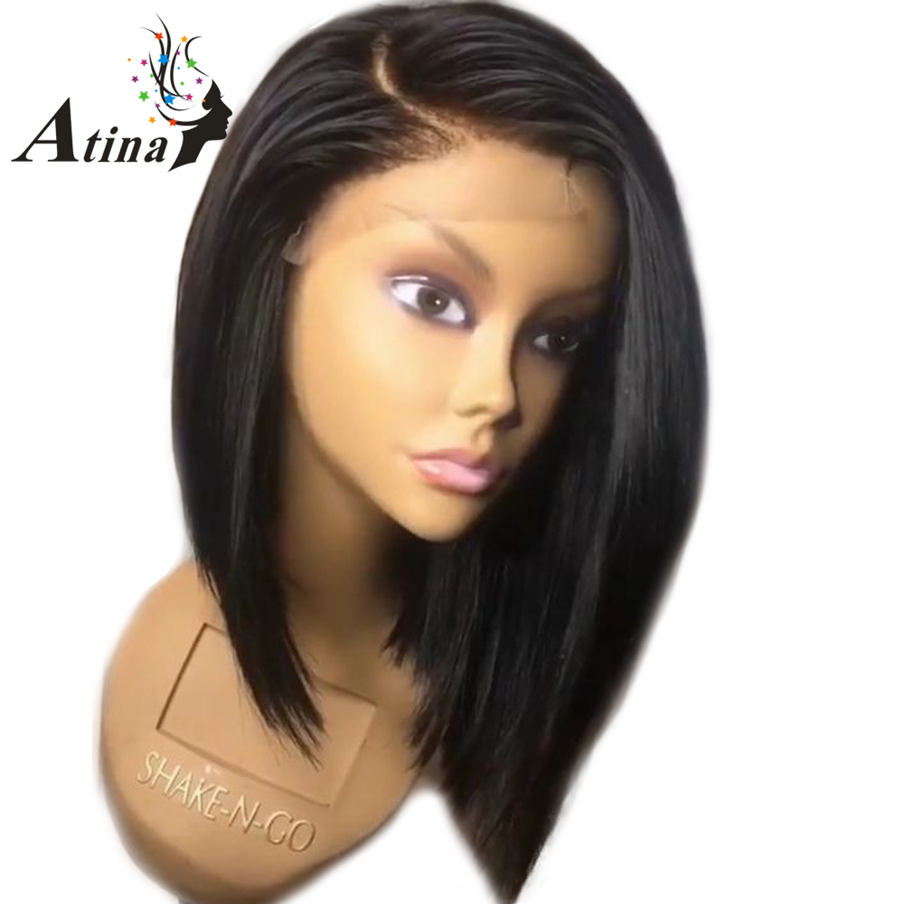how to style a human hair wig aliexpress buy lace front human hair wigs 150 7580 | Lace Front Human Hair Wigs 150 Density Short Bob Cut Wig Brazilian Remy Hair Pre Plucked