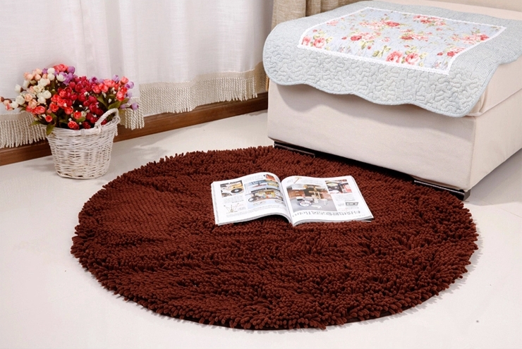 High Quality Water Absorption Carpet Round Shape Mat Home Floor Rugs For  Living Room Soft Comfortable