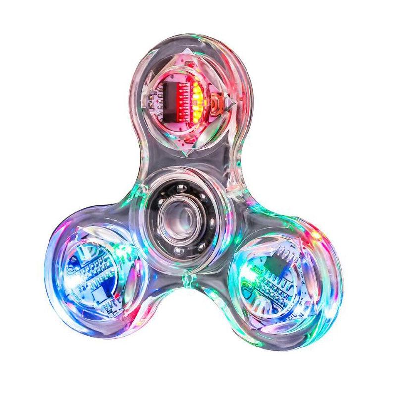 NEW Led Spinner Hand Spinner EDC Tri-Spinner Fidget Toys Metal Red Fidget Spinner Adults Kids Children Education DIY Toy Hobbies