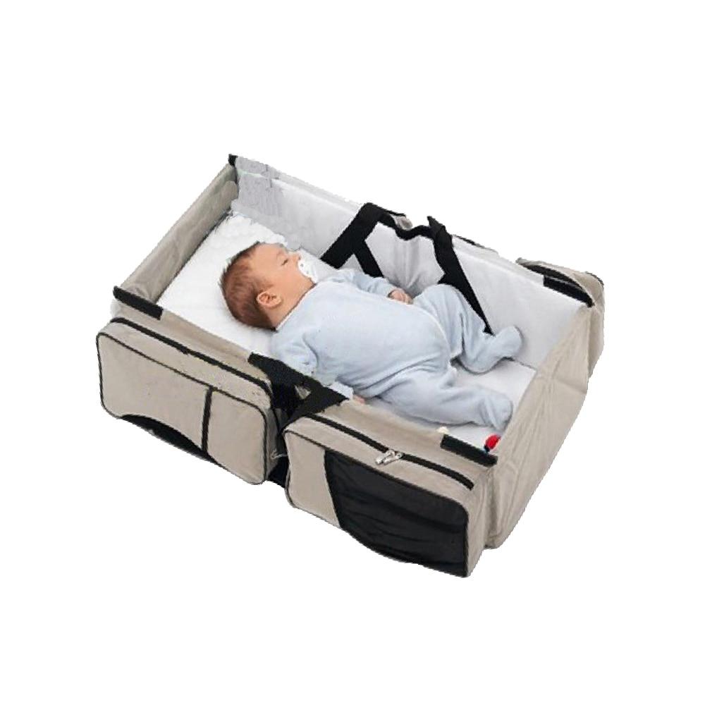 Baby Foldable Crib Multi-function Portable Mom Shoulder Bag Travel Bandbag Baby Diaper Bag