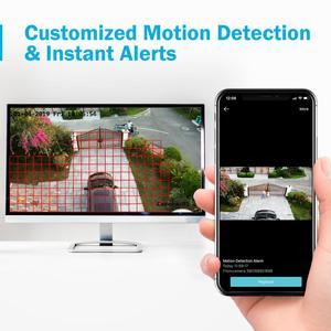 Image 4 - ANNKE 1080P 4CH CCTV ev kamerası sistemi 5in1 1080N H.264 + DVR 2X 4X TVI akıllı IR Bullet hava güvenlik gözetim kiti