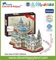 Новый умный и счастливую землю 3d модель головоломка святого Павла Собор взрослых головоломка diy бумажные варшавского модели игры для дети бумаги