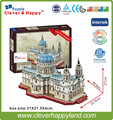 new clever&happy land  3d puzzle model St Paul's Cathedral adult puzzle diy paper warsaws model games for children paper