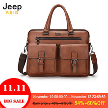 hot deal buy man leather briefcases bag jeep buluo famous brand business handbags corssbody tote hand bags for laptop men shoulder bags 8001