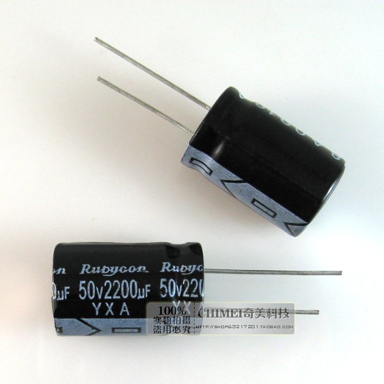 Electrolytic Capacitor 2200UF 50V Volume 24X15MM Capacitor Electronics
