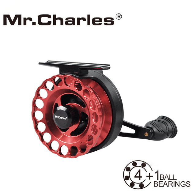 Mr.Charles New MMD65 Gear Ratio 3.6:1 Aluminum Front-end Fishing Left/Right Hand Fly Fishing Reel Raft Ice Fishing Reel