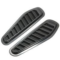 Mayitr 1 Pair Car Styling Stickers Black Air Flow Vent Fender Intake Hood Scoop Turbo Bonnet