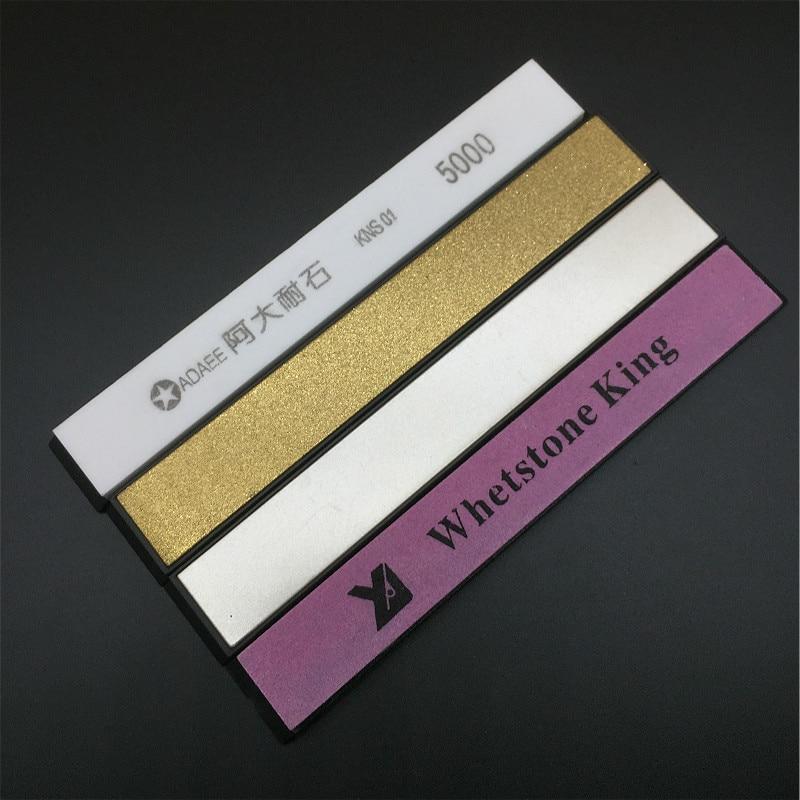 AB MART Store Adaee 4pcs Lot 240#,500#, 1000#,5000# Whetstone Sharpening Stones  for Knife Sharpener Open edge Coarse Fine Sharpen h1
