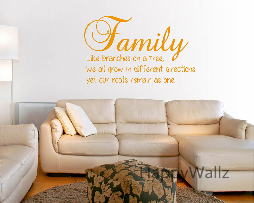 family quotes picture more detailed picture about family quote family quote wall sticker family branches on tree roots as one diy family lettering wall quote