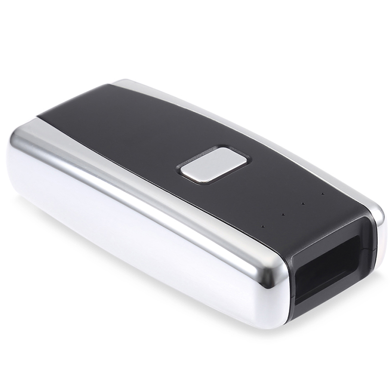 leitor de codigo de barras scanner a laser portatil de bolso sem fio bluetooth red light