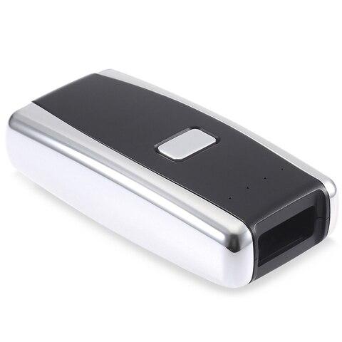 leitor de codigo de barras scanner a laser portatil de bolso sem fio bluetooth red