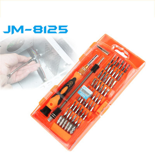 JAKEMY JM-8125 מברג סט כלי לתיקון טלפונים 58 ב 1 רב קצת ערכת טלפון תיקון כלים ifixit לפרק תיקון