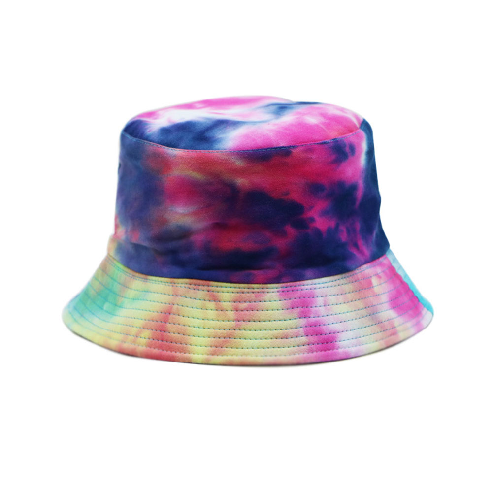 Clan Characteristics Daily Shade Cotton Walking Summer Casual Easy To Install Outdoor Tie-Dye Colorful Cap Fisherman Hat