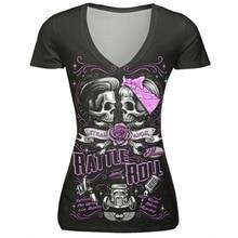 Short Sleeve 3D Skull Print T-shirt