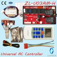 ZL U03AM H, Universal AC control system, Split AC control PCB, Universal ac controller, Remote and Board, Lilytech