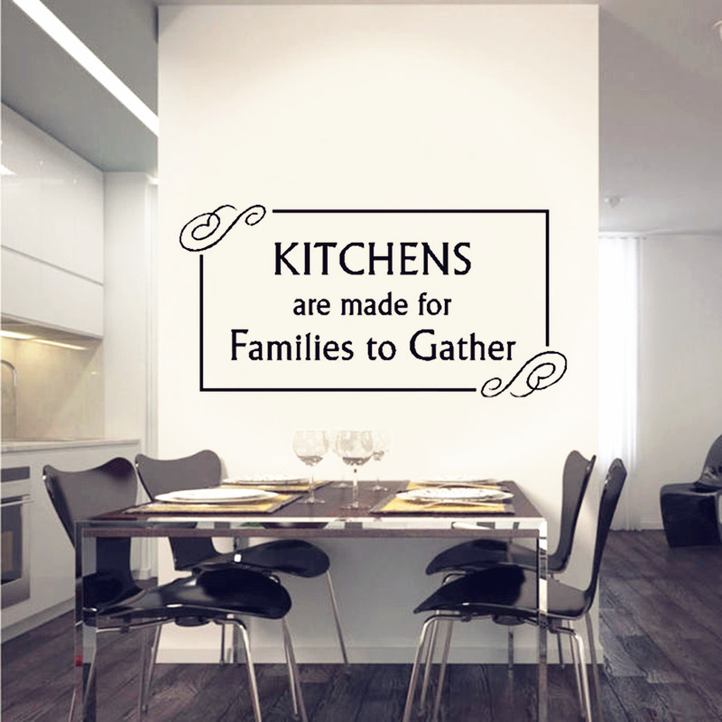 Kitchen Wall Decal Family Quotes Vinyl Wall Sticker Home Decor
