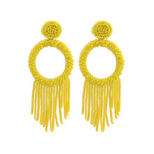 Sehuoran Beaded Drop Earrings For Women Brand Design Wedding Earrings Bohemian Jewelry ZA Drop Dangle Earrings 2019 New Earings(China)