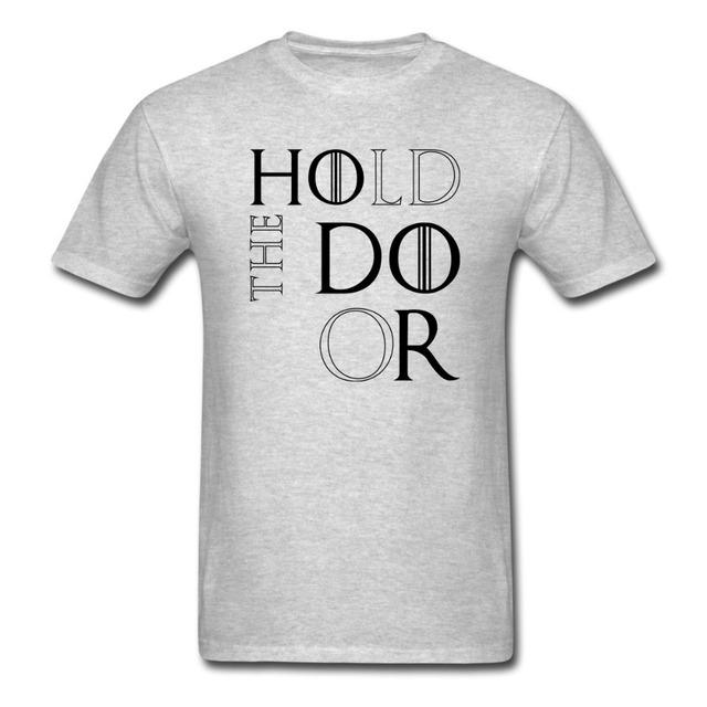 Game of Thrones Hold The Door Hodor Summer Casual Fashion Men's T-shirt