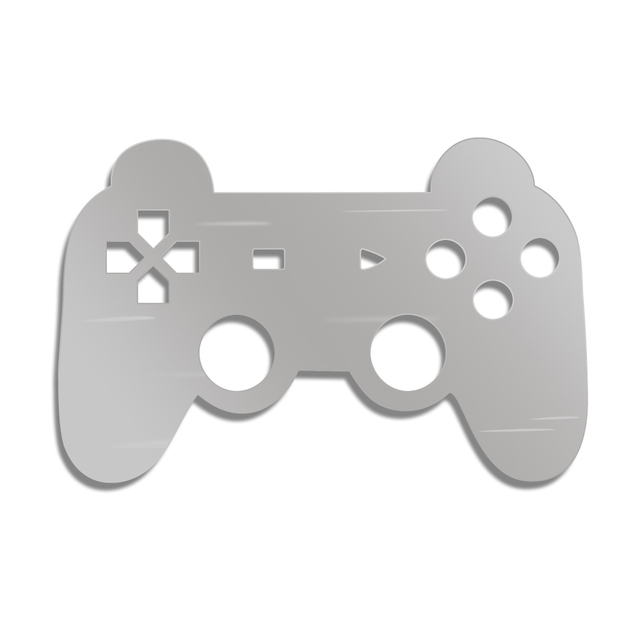 Gamepad Controller Wall Mirror With LED Backlight Joystick Game Decorative Mirror Video Game Retro Arcade Home Decor Gamers Gift 2