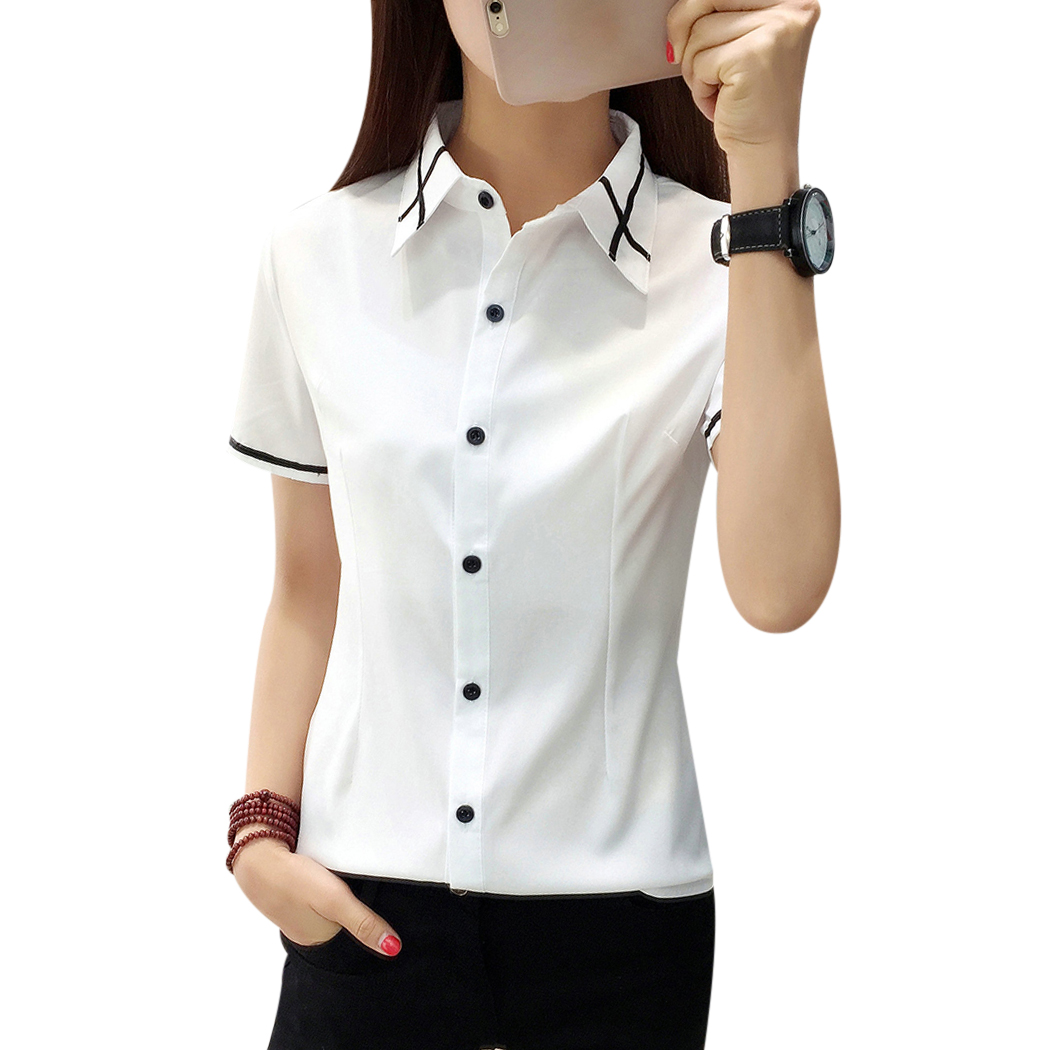 Women Shirts New Korean Version Of The Work Wear Slim Body Shirt Spring And Summer New High Quality Soft And Comfortable