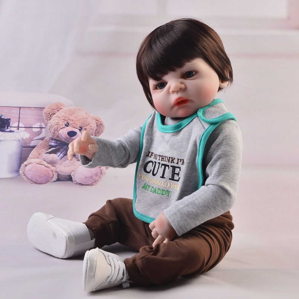 Lifelike 23 Inch Full Body Vinyl Silicone Babies Doll KEIUMI Fashion 57 cmBaby Boy Playmates Reborn Dolls For Kids Birthday Gift new 23 asleep reborn dolls babies full silicone vinyl body lifelike doll reborn boy gift for fashion children brinquedos bebe