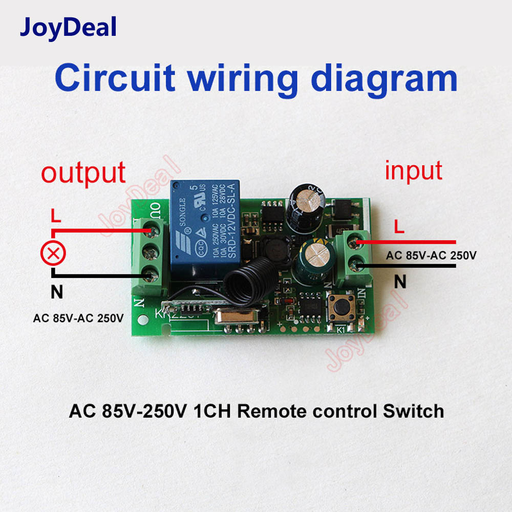 220V 110V 10A Relay Home Wireless Switch Module Transmitter Lamp Lights ON//OFF