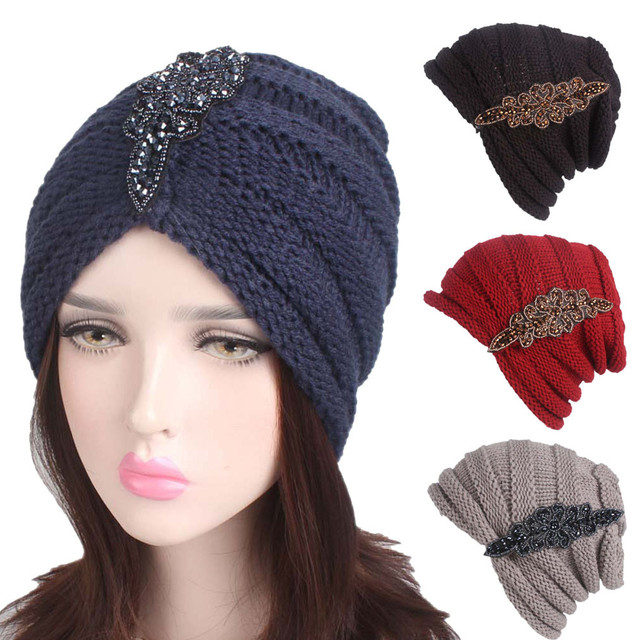 f16598dba63 Classic popular Women Ladies Winter Knitting Hat winter hats for women  Turban Brim Hat Cap Pile CapS gorros mujer invierno