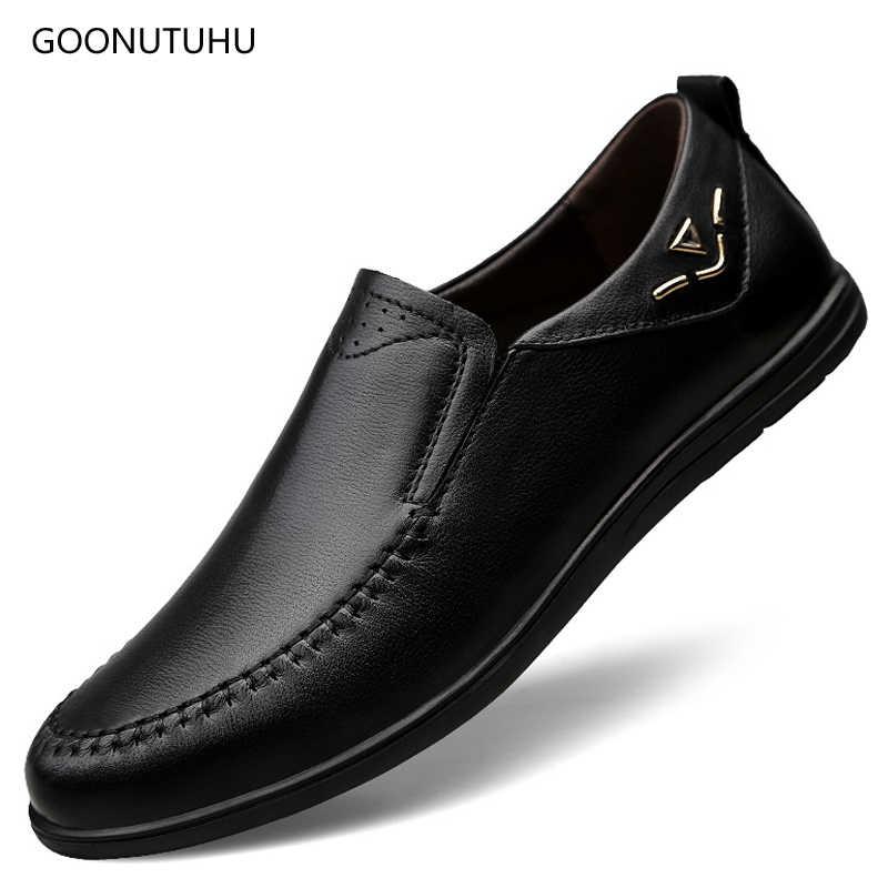 2fd0ab841 2019 г. Мужские модельные туфли без шнуровки, натуральная кожа, коровья  кожа, классический