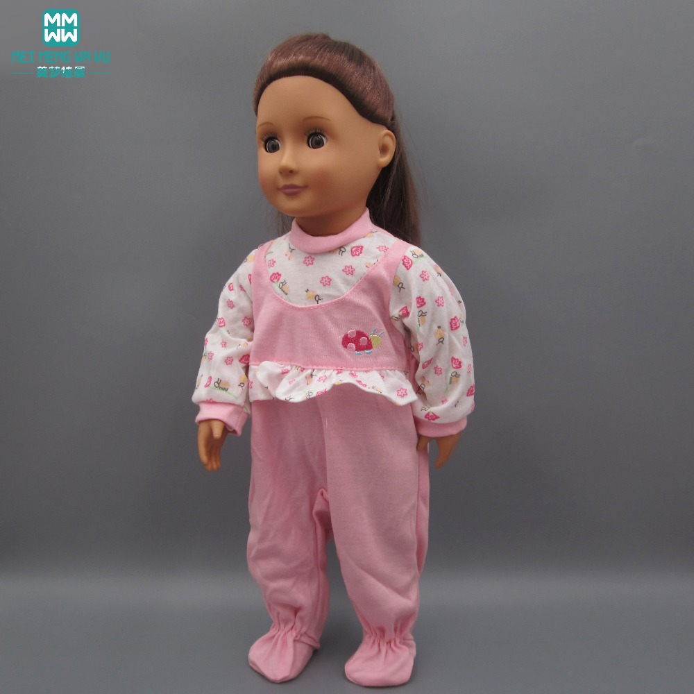Crawling Siamese clothes, sleepwear fits 18 Inch American girl dolls Accessories