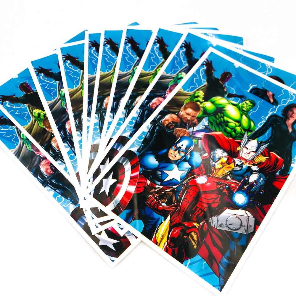 10 Buah/Set The Avengers Tema Hadiah Tas Pesta Ulang Tahun Dekorasi Anak Laki-laki Uang Permen Belanja Tas Baby Shower Perlengkapan Pesta