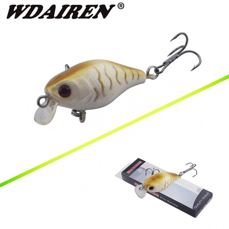 1Pcs 4cm 4.2g Mini Wobblers Crank Topwater Fishing Lure Artificial Hard Lures Plastic Bait Fishing Isca Pesca WD-470