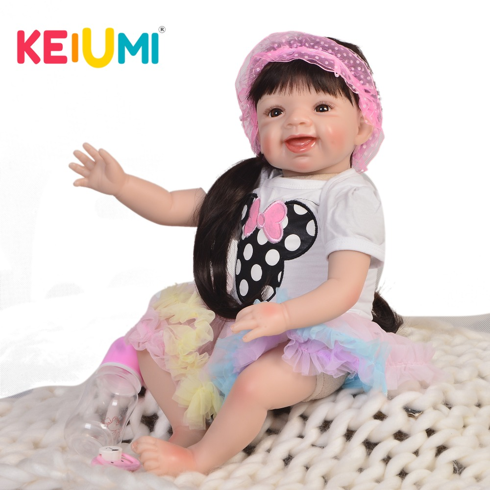 Collection 55cm Reborn Baby Doll Soft Silicone 22 Lifelike Reborn Baby Lovely Princess Girl Toy For Kid Christmas GiftCollection 55cm Reborn Baby Doll Soft Silicone 22 Lifelike Reborn Baby Lovely Princess Girl Toy For Kid Christmas Gift