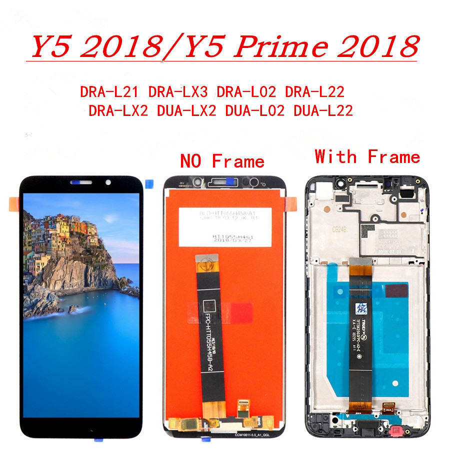 For Huawei Y5 2018 Lcd Display Touch Screen Digitizer Assembly Replacement For Huawei Y5 Pro 2018 /Y5 Prime Screen Display PartsFor Huawei Y5 2018 Lcd Display Touch Screen Digitizer Assembly Replacement For Huawei Y5 Pro 2018 /Y5 Prime Screen Display Parts