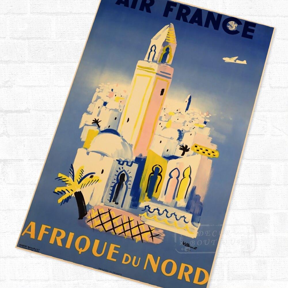 North Africa African Propaganda Vintage Travel Poster Retro Canvas ...